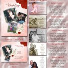Red Roses & Any Color Background Folded Photo Wedding Invitations Pkge