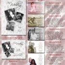 Beautiful White Wedding Lace Folded Photo Wedding Invitations Package