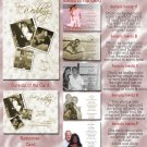 Classy Vintage Wedding Lace Folded Photo Wedding Invitations Package