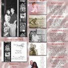 Black/White Hollywood Film Strip Folded Photo Wedding Invitations Pkge