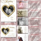 Gold or Any Color Hearts Folded Photo Wedding Invitations Package