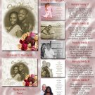 Vintage Roses and Lace Folded Photo Wedding Invitations Package