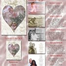 Hearts and Vintage Flowers Folded Photo Wedding Invitations Package