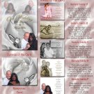 White Rose and Silver Rings Folded Photo Wedding Invitations Package
