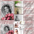 Pink Roses BW Folded Photo Quinceanera / Sweet 16 Invitations Package