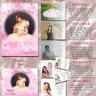 Princess Flower Burst Pink Photo Quinceanera Sweet 16 Invitations Pkg