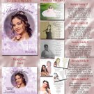 Princess Flower Burst Lavender Photo Quinceanera Sweet 16 Invitations