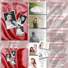 Multi Photo Burgundy Any Color Photo Quinceanera Sweet 16 Invitations