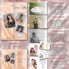 Multi Photo Peach or Any Color Photo Quinceanera Sweet 16 Invitations