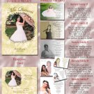 Golden Roses or Any Color Photo Quinceanera Sweet 16 Invitations Pkge