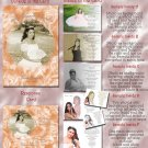 Peach Roses or Any Color Photo Quinceanera Sweet 16 Invitations Pkge