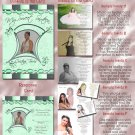 Goovy in Green Folded Photo Quinceanera / Sweet 16 Invitations Package