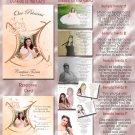 Princess Tiara Peach Folded Photo Quinceanera Sweet 16 Invitations Pkg