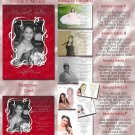 Trendy Burgundy Any Color Photo Quinceanera Sweet 16 Invitations Pkge