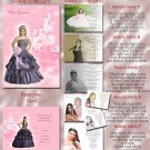 Princess Castle Pink Photo Quinceanera / Sweet 16 Invitations Pkge