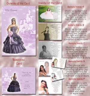 Princess Castle Lavender Photo Quinceanera / Sweet 16 Invitations Pkge