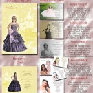 Princess Castle Golden Photo Quinceanera / Sweet 16 Invitations Pkge
