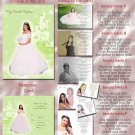 Princess Castle Green Photo Quinceanera / Sweet 16 Invitations Pkge
