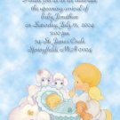Precious Moments Baby Shower Invitations Baby Boy &  Angel photo opt