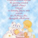 Precious Moments Baby Shower Invitations Baby Girl &  Angel