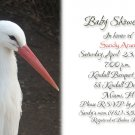 Stork Baby Shower Invitations Optional Photos & Ultrasound pic neutral