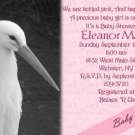 Stork Baby Shower Invitations Optional Photos & Ultrasound pic pink