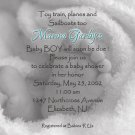 Photo Baby Shower Invitations Baby Feet in Blanket bw  for Boy