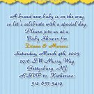 Winnie the Pooh Baby Shower Invitations Blue and Yellow Optional Photo