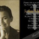 Elegance in Black Photo Communion Invitations & Confirmation