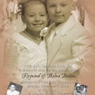 Vintage Sepia Photo Communion Invitations & Confirmation Invitations