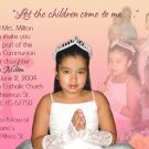 Multi Photo in Pink Peach Photo Communion Invitations & Confirmation
