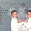 Multi Photo in Silver Photo Communion Invitations & Confirmation