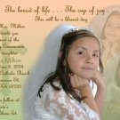 Multi Photos in Peach Green Photo Communion Invitations & Confirmation