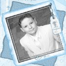 Graceful in Blue Photo Communion Invitations & Confirmation