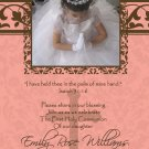 Damask Flame & Brown Photo Communion Invitations & Confirmation