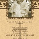 Damask Peach & Brown Photo Communion Invitations & Confirmation