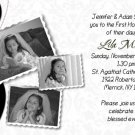 Joyful Collage Black/White Photo Communion Invitations Confirmation