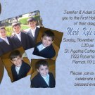 Joyful Collage Brown/Blue Photo Communion Invitations Confirmation