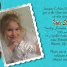 Joyful Collage Brown/Teal Photo Communion Invitations Confirmation