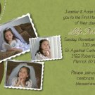 Joyful Collage Brown/Sage Photo Communion Invitations Confirmation
