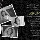 Elegant Collage Black/White Photo Communion Invitations Confirmation