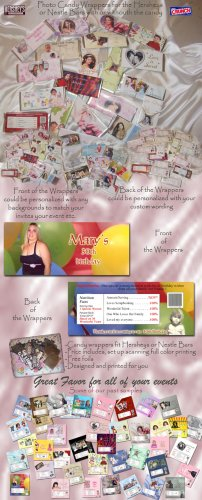 Photo Candy Bar Wrappers Personalized Custom to your Event