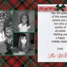 Custom Photo Christmas Cards 5 x 8 Red and Green Plaids 3 Photo Frame