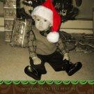 Custom Photo Christmas Cards 5 x 8 Modern Trendy Swirly Brown & Green