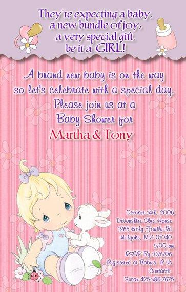precious moments baby shower invitations baby girl