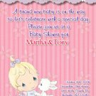 Precious Moments Baby Shower Invitations Baby Girl