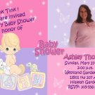 Lavender and Pink Precious Moments Baby Shower Invitations