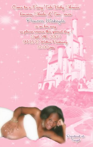 Princess Baby Shower Invitations - Photo and Fairy Tale Castle