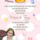 Polka Dots Princess Invitations - with Photo or Ultrasound Pink
