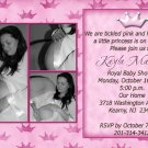 Three Photos Princess Crown Baby Shower Invitations in Pink